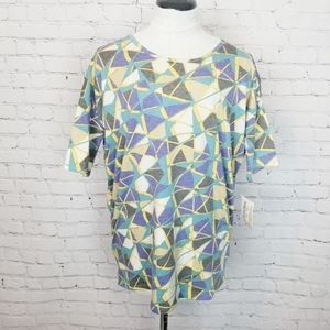Lularoe Irma Tunic Geometric Pastel Print  NWT